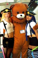 Panty and Stocking with Pedobear by mimiiswonderful