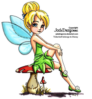 Tinkerbell - Colored by JadeDragonne