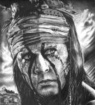 Johnny Depp : The lone Ranger - Tonto by shonechacko