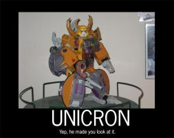Inspirational poster-Unicron by MagusTheLofty