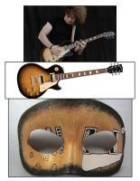 Les Paul inspired mask by maskedzone