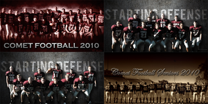 2010 Football Posters by blast196x