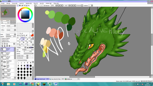 Digital Painting - Dragon WIP by LookAliveHolly