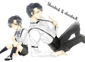 sherlock and sherlock by m0bilis