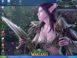 World of Warcraft Desktop by LinaraQ