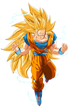 SSJ3 Goku Filter Render by Diegoutetsuma
