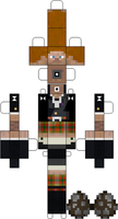 MineCraft: BM Vagabond (Ryan Haywood) Paper Doll by Testsubject276