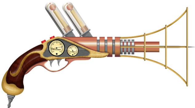 Steampunk Raygun by altered-pixel