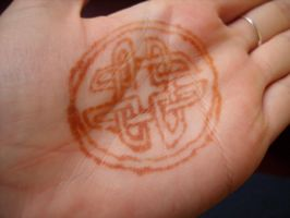 Celtic Henna Design  - Palm by Wrayth-Acheron