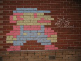 Chalk Mario by liverspoon