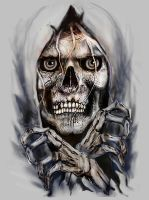 SKULL BREAKING OUT by Rjrazar1