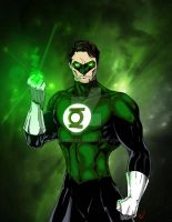 Green Lantern by Schwoodz