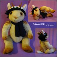 OOAK Fawnlock plush for sale by chu-po-po