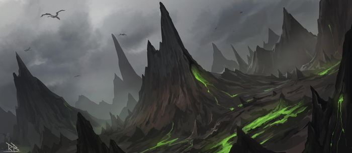 Speed Painting Dragon Land by RogierB