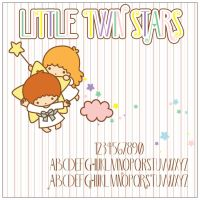 Little Twin Stars Font by ShoriAmeshiko