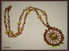 Jade with Copper necklace by jasmin7