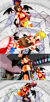 [MMD Wrestling]Meiko Vs Remilia and Rin (1) by tousato