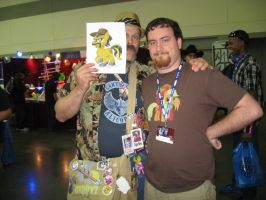 BronyCon 2013 - Photo with Dusty Katt by AleximusPrime