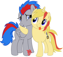 Friends: Tumblee and Nidera by VinylBecks