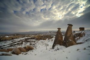 Cappadocia under the snow - XXI : Landmarks by Suppi-lu-liuma