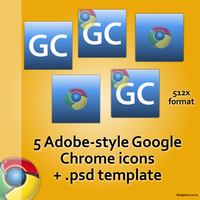 """Adobe"" Google Chrome Icons by dragonic2020"