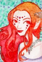 ACEO: Fire Elf by LaraInPink