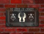 Green Cat Cabaret Tavern Sign - 1920s by Ronron84