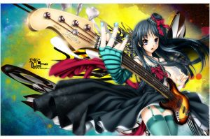 K-ON - And Her Bass Guitar by LFDN