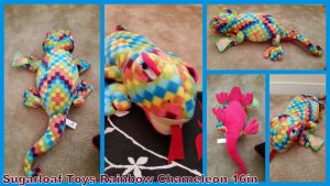 Sugarloaf toys Rainbow Chameleon 16in! by Vesperwolfy87