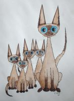 Family of Siamese by RamonaQ