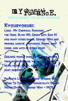 MCR User Info Blue by kyouryokubi