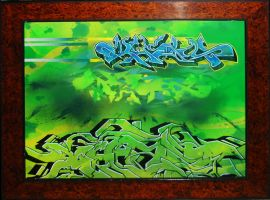 Khaos Piece with frame by GraffitiGrant
