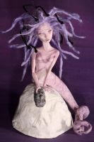 Medusa - polymer clay miniature sculpture by frybla