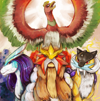 ho-oh's 90's gang group by Veriama