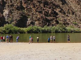 Playing in the Colorado River by Synaptica