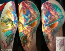 fabulous hip tattoo by NikaSamarina