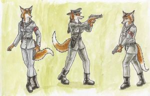 Fascist vixen referencesheet by SteinWill