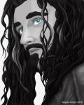 Thorin with Those Blue Eyes by AngelaCross