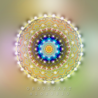 circle art 1862 -  Tibetan Mandala by oboudiart