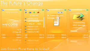 The Future's Orange SE Theme by solinus9