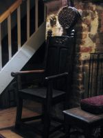carved dragon chair medieval viking by oakviking