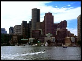 Boston Waterfront by Machinegun-Willy