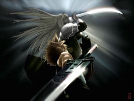 FFVII-AC: Cloud VS SEPHIROTH by Shld