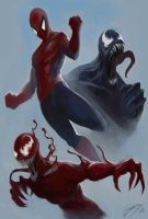 Spiderman and chums by Truzart28