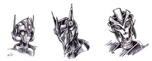 TFPxOC Copic Trio by BLACK-HEART-SPIRAL