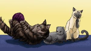 Le Kitty Trio by thenumber42