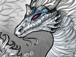 Ryubara in dragon form by blackheartedhate