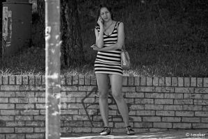 Girl With A Phone Updated by t-maker