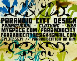 Paranoid City Design hotcard by Two-Players