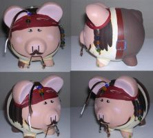 Piggy Bank- Pirate Captain by krazyklaws